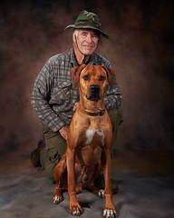 Chuck and Hunter (greyhound rick) Tags: dog dogs rhodesianridgeback portrait dogportrait scottsdale arizona nikon pocketwizard sb800 beautydish photoshop niksoftware captureone