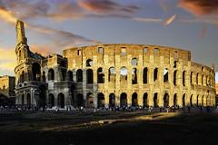 Colisée Rome (the_rush_rain02) Tags: lumiere light sunset coucher soleil sun rome roma tialia italy architecture monument
