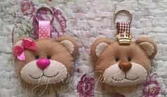 Chaveiro de urso e ursa (Feito a mão [by Rafa]) Tags: feltro fieltro felt rafagibrim chaveiro fofo cute enfeite presente lembrança artesanato aniversário urso ursinho ursa ursinha