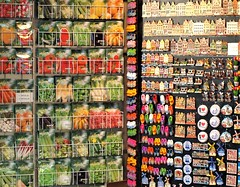 Flower Market Colour Patterns  - Amsterdam (Gilli8888) Tags: holland netherlands amsterdam colours patterns seeds magnets touristattractions tourists flowermarket market stalls linear lines rows