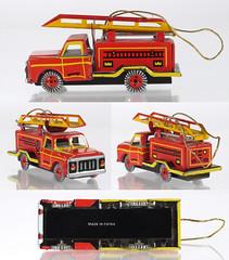 ZZ Copy Fire Engine (adrianz toyz) Tags: tinplate pennytoy zz zimmermann zirndorf christmas tree ornament fire engine china