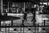 Croisement sous la pluie (vedebe) Tags: ville rue pluie humain people street urbain city noiretblanc netb nb bw monochrome