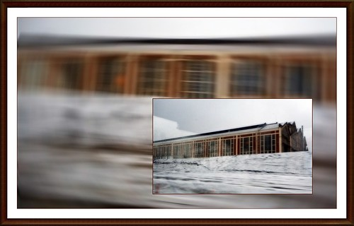 5 - Premières neiges de la saison, Façade de l'entreprise Sotralentz Construction