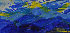 Blue Ridge Mountains (BKHagar *Kim*) Tags: bkhagar art artwork painting paint acrylic impressionist mountains blue blueridgemountains