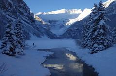 Christmas morning, Lake Louise (Jeff Goddard 32) Tags: lakelouise banffnationalpark alberta canada canadianrockies snow december mtvictoria rockymountains winter