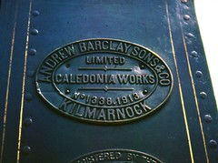 NCB 17 Waterside colliery builders plate (shipcard) Tags: tank locomotive steam sidetank ncb nationalcoalboard ncb17 waterside pennyvenie dalmellington andrewbarclay 1338 industrial colliery scotland