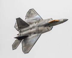 Vapor Ware F-22 (4myrrh1) Tags: usa usaf airforce military fighter f22 raptor vapor clouds cloudy aircraft airplane aviation airshow airplanes airport canon ef100400l cherrypoint nc 2016