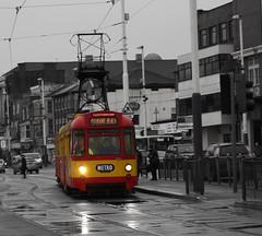Blackpool tram (paul jeffrey 1) Tags: 685 685675 675685 twincar twincartram northern north metro 675 blackpool blackpooltransport blackpooltrams blackandwhite photoshop transport