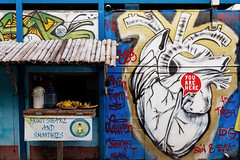 In the Heart of the City (dean.white) Tags: thailand th northernthailand chiangmai oldcity streetart painting mural heart fruitshakes smoothies youarehere canoneos6d canonef24105mmf4lisusm