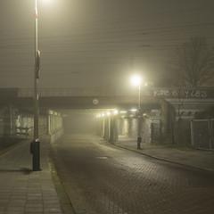 Den Haag (Trekvlietplein) (Danny Holleman) Tags: denhaag train track tunnel night square trein street trekvlietplein fuji fujifilm