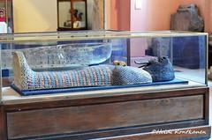 Coffin lid from KV55 (konde) Tags: kv55 valleyofthekings 18thdynasty newkingdom coffin mummycoffin gilded treasure art uraei cartouche hieroglyphs ancient amarna