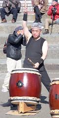 #1054 drummer (Nemo's great uncle) Tags: drummer people 太鼓 enoshima 江ノ島 寒中神輿錬成大会 katasekaigan 片瀬海岸 片瀬東の浜 fujisawa 藤沢市 kanagawaprefecture 神奈川県