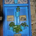 Blue Door with pots