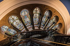 IMG_20161222_084128_169 (annh49) Tags: stainedglass windows qvb queenvictoriabuilding sydney stairs