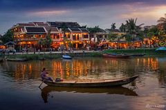 Vietnam, Quang Nam province, Hoi An, old town listed as World Heritage by UNESCO, along the Thu Bon River (dleiva) Tags: asia colorimage hoian horizontal illuminated incidentalpeople nauticalvessel night outdoors people photography river rowboat southeastasia traveldestinations unescoworldheritagesite vietnam water dleiva domingo leiva hoi an quang nam province thu bon