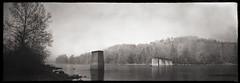 Albright Bridge (DRCPhoto) Tags: bw plane kodak pinhole westvirginia curved portra cheatriver 618 albright sodomka lenslessphotography