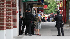 Police Arrest Armed Robbery Suspect (bcfiretrucks) Tags: street canada news vancouver gold high team media chinatown gun cops bc risk main police pd scene columbia canadian special crime cop guns british robbery emergency department tactics swat weapons pender response keefer armed suspect ert unmarked tactical trained tactic vpd