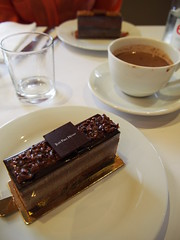 At Jean Paul Hevin chocolatier for lunch and a 7 layer chocolate cake for dessert!