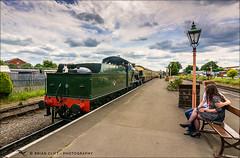Trainspotters (brianac37) Tags: people railway steamengine gwr severnvalleyrailway kidderminster greatwesternrailway 7812 railwayplatform tokinaaf1116mmf28 erlestokemanor
