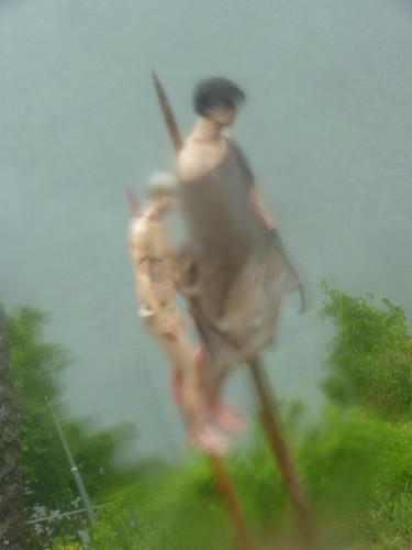 Poienarii citadel thunderstorm  Vlad Tepes' impaled victims