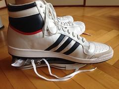 Adidas Top Ten vs. Chucks (big.sneakers) Tags: converse adidas chucks topten size10 size21