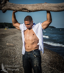 Model Chase (Shawn Collins Photography) Tags: shirtless male beach smile dedication model tank arms modeling masculine muscle muscular chest stare abs malemodel openshirt outdoorshoot beachshoot
