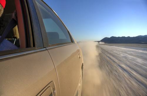 Driving on the playa
