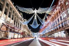 Regent Street Angel (petercooper131) Tags: regent street christmas lights display decoration night long exposure london west end light trail