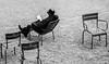 (C-47) Tags: people blackwhite bw black alone chairs white noir blanc canon 7dmarkii