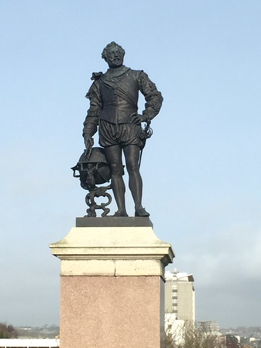 Statue of Sir Francis Drake by Joseph Boehm