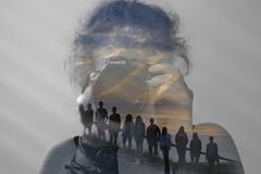 Who am I? (Lena Bo) Tags: selbstinszenierung selbstportrait selfdramatisation selfportrait me myself who cameraselfie cloud sunset silhouttes