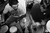 Bongo's duo (chuanet) Tags: sonydscrx100 blackandwhite bw black white music percussion france bongo drum playing flash night