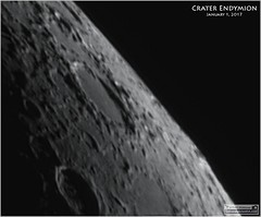 Crater Endymion on the Moon (Tom Wildoner) Tags: crater endymion lunar solarsystem tomwildoner leisurelyscientistcom leisurelyscientist astronomy astrophotography astronomer space science meade telescope lx90 celestron cgemdx asi290mc zwo camera video stacking registax