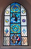 Window in the church of Guggisberg, Switzerland. A. (ceila♪♫♪) Tags: glasmalerei stained vreneli guggisberg glass church
