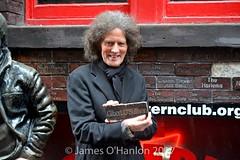 Gilbert and the brick with his name on (James O'Hanlon) Tags: gilbert osullivan gilbertosullivan sullivan brick plaque cavern club pub mathew st award ceremony liverpool mathewst matthewst walloffame wall fame