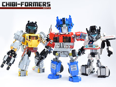 10. Chibi-formers Cover 1 Bot (Sam.C MOCs (S2 Studios)) Tags: lego transformers optimus prime chibi moc mech robot anime scifi car truck