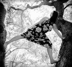 Wuthering Heights (JDS Fine Art & Fashion Photography) Tags: tree youngwoman fun playful treeclimbing heights climbing