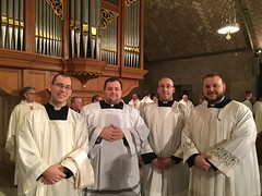 Erie seminarians in Crypt of the National Shrine of the Immaculate Conception for Pro Life Vigil Mass - January 2017
