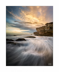 Petit Fleur (Mike Hankey.) Tags: littlebay cloud seascape published focus sunrise canoncollective lowtide colour