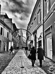 STREETS OF RAVENNA (giovannivarotti) Tags: cities city streets bw biancoenero blackandwhite bnw people emiliaromagna italy italia ravenna