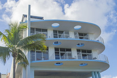 Home from the Future? (aaronrhawkins) Tags: artdeco art deco miamibeach miami florida home building future curves house city beach exotic aaronhawkins