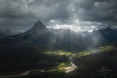 Wizard Cap (enricofossati) Tags: enricofossati canada fantasy dark dramatic drammaticlight mountains rockies alberta assiniboine helicopter flight