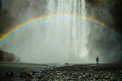 rainbow at the Skógafoss waterfall (rudydlc81) Tags: waterfall iceland rainbow skógafoss nature 2550favs travel exploring mist wet dream luckycharms