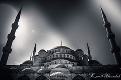 Dont matter what Religion  you Are  ,Christian Jew or Muslim pray to God brings us togehter! (enesmi) Tags: dome samsun cami religion travel sky light ottoman tower clouds architecture minaret mosque monochrome outdoor city istanbul blackandwhite noir bnw building pray