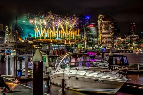 Australia Day Fireworks At Docklands Etihad Stadium-26