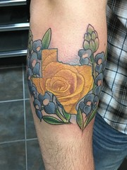 Little rose n bluebonnets addition to this Texas themed arm.