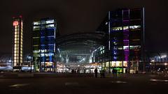 Berlin - Main Station at night (++sepp++) Tags: berlin hauptbahnhof mainstation deutschland germany architektur architecture nachtaufnahme nightshot langzeitbelichtung longtimeexposure hdr urban städtisch stadt city