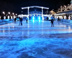 Blue Ice-Rink - Rijksmseum Park - Amsterdam (Gilli8888) Tags: amsterdam holland netherlands rijksmuseum ice icerink skating blue translucid park light night