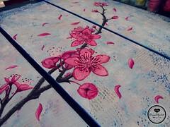 Kirschblüten 3 (Sandys.PiecesOfArt.) Tags: sandyspiecesofart sandys piecesofart cherry blossoms kirschblüten ast zweig kirschblütenast zeitungspapier rosa blau newspaper art malerei acrylmalerei acrylaufleinwand acryl auf leinwand acryliconcanvas acrylic canvas brush pinsel acrylfarben colours pretty selfmade diy do it yourself lila blue kunst