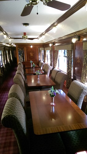Royal Scotsman dining unmade
